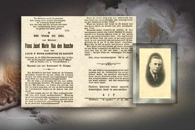 Frans Jozef Marie Van den Bossche 28 maart 1946 - Verongelukt tijdens de motorit van Dendermonde naar Hult-Tessenderlo