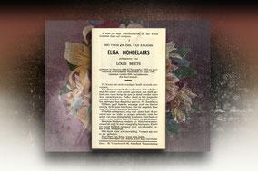 Elisa Mondelaers 23 september 1947