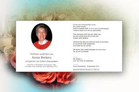 Annie Beckers 5 september 2011-dochter van Frans van Jan