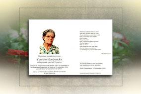 Yvonne Hoydonckx 10 november 2002