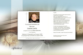 bidprentje van Louiza Loots.
