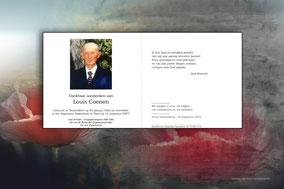 bidprentje van Louis Coenen