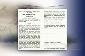 Jos Vandeweyer 8 oktober 1968