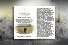 Jozef Wellens 8 januari 2001
