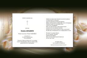 Eulalia Lenaerts 5 oktober 2001