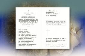 Hendrik Ambroos 11 maart 1981