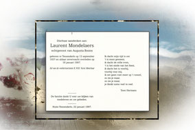Laurent Mondelaers  16 januari 1997