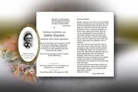 Adéle Daniëls 25 augustus 1999