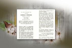 Cordelia Coomans 22 februari 1977