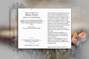 Maria Nuyts 20 mei 1997