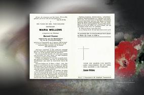 Maria Wellens 30 augustus 1964