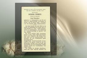 Leonia Swerts 10 maart 1959
