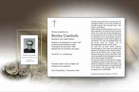 Bertha Gaethofs 8 december 1995