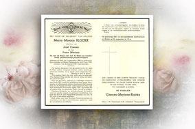Maria Monica Blockx 17 augustus 1956