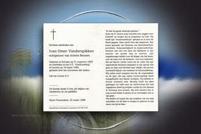 Ivan Omer Vanderspikken 19 maart 1996