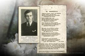 August Van Thienen -omgekomen bij de fabrieksramp van Tessenderlo 29 april 1942