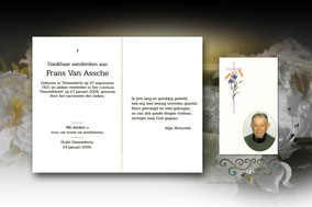 bidprentje van Frans Van Assche