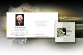 bidprentje van Louise Coenen