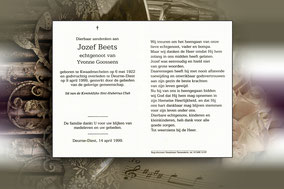 Jozef Beets 9 april 1999