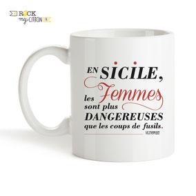Mug Rock my Citron, Le Parrain, Cadeaux Fêtes, Anniversaires
