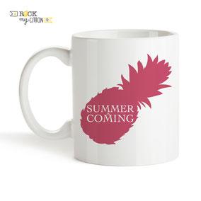 Mug à personnaliser Rock my Citron, Summer Is Coming, Cadeaux Fêtes, Anniversaires, Mariages, Naissances, EVJF, EVG