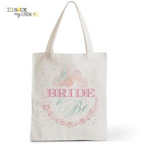 Tote Bag Mariage Rock my Citron, Bride To Be, Cadeaux Fêtes, Anniversaires, Mariages