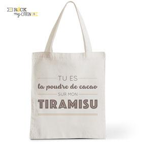 Tote Bag Rock my Citron, Tiramisu, Cadeaux Fêtes, Anniversaires, Naissances