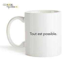 Mug à personnaliser Rock my Citron, Tout est Possible, Cadeaux Fêtes, Anniversaires, Mariages, Naissances, EVJF, EVG