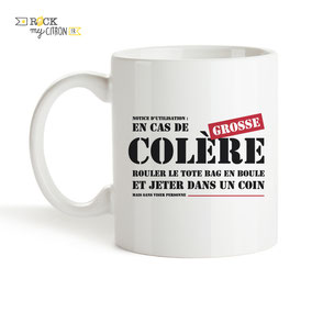 Mug à personnaliser Rock my Citron, Grosse Colère, Cadeaux Fêtes, Anniversaires, Mariages, Naissances, EVJF, EVG