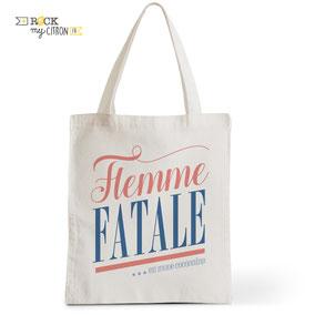 Tote Bag Rock my Citron, Flemme Fatale, Cadeaux Fêtes, Anniversaires