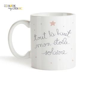 Mug à personnaliser Rock my Citron, Étoile Solaire, Cadeaux Fêtes, Anniversaires, Mariages, Naissances, EVJF, EVG