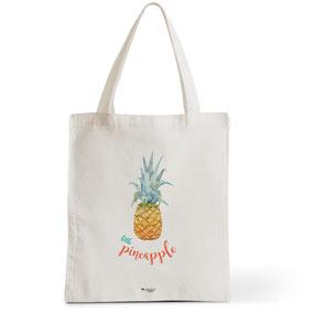 Tote Bag Rock my Citron,  Little Pineapple, Cadeaux Fêtes, Anniversaires, Naissances
