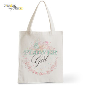 Tote Bag Mariage Rock my Citron, Flower Girl, Cadeaux Fêtes, Anniversaires, Mariages