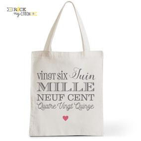 Tote Bag Rock my Citron, Love Etc, Cadeaux Fêtes, Anniversaires