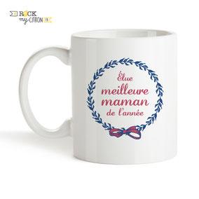 Mug à personnaliser Rock my Citron, Meilleure Maman, Cadeaux Fêtes, Anniversaires, Mariages, Naissances, EVJF, EVG