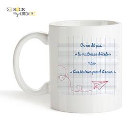 Mug à personnaliser Rock my Citron, Maîtresse Décolle, Cadeaux Fêtes, Anniversaires, Mariages, Naissances, EVJF, EVG