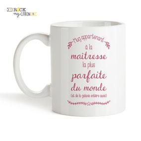 Mug à personnaliser Rock my Citron, Maîtresse Parfaite, Cadeaux Fêtes, Anniversaires, Mariages, Naissances, EVJF, EVG