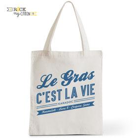 Tote Bag Rock my Citron, Le Gras C'est La Vie, Karadoc, Kaamelott, Cadeaux Fêtes, Anniversaires
