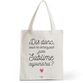 Tote Bag Rock my Citron,  Sublime, Cadeaux Fêtes, Anniversaires, Naissances