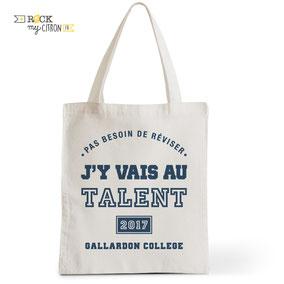 Tote Bag Rock my Citron,  Le Talent, Cadeaux Fêtes, Anniversaires, Naissances