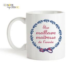 Mug à personnaliser Rock my Citron, Meilleure Maîtresse, Cadeaux Fêtes, Anniversaires, Mariages, Naissances, EVJF, EVG