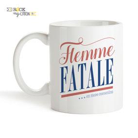 Mug à personnaliser Rock my Citron, Flemme Fatale, Cadeaux Fêtes, Anniversaires, Mariages, Naissances, EVJF, EVG