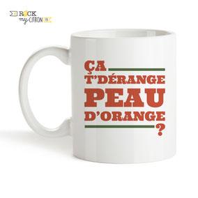 Mug à personnaliser Rock my Citron, Peau d'Orange, Cadeaux Fêtes, Anniversaires, Mariages, Naissances, EVJF, EVG