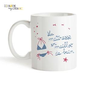 Mug à personnaliser Rock my Citron, Maillot De Bain, Cadeaux Fêtes, Anniversaires, Mariages, Naissances, EVJF, EVG