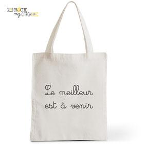 Tote Bag Rock my Citron,  Avenir, Cadeaux Fêtes, Anniversaires, Naissances