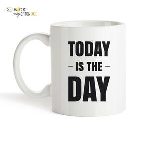 Mug à personnaliser Rock my Citron, Today is The Day, Cadeaux Fêtes, Anniversaires, Mariages, Naissances, EVJF, EVG