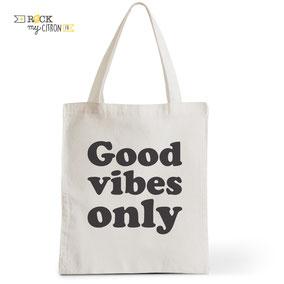 Tote Bag Rock my Citron,  Good Vibes, Cadeaux Fêtes, Anniversaires, Naissances