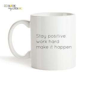 Mug à personnaliser Rock my Citron, Positive, Cadeaux Fêtes, Anniversaires, Mariages, Naissances, EVJF, EVG