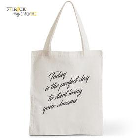 Tote Bag Rock my Citron,  Perfect Day, Cadeaux Fêtes, Anniversaires, Naissances