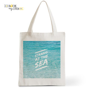 Tote Bag Rock my Citron, Staring At the Sea, Cadeaux Fêtes, Anniversaires, Mariages